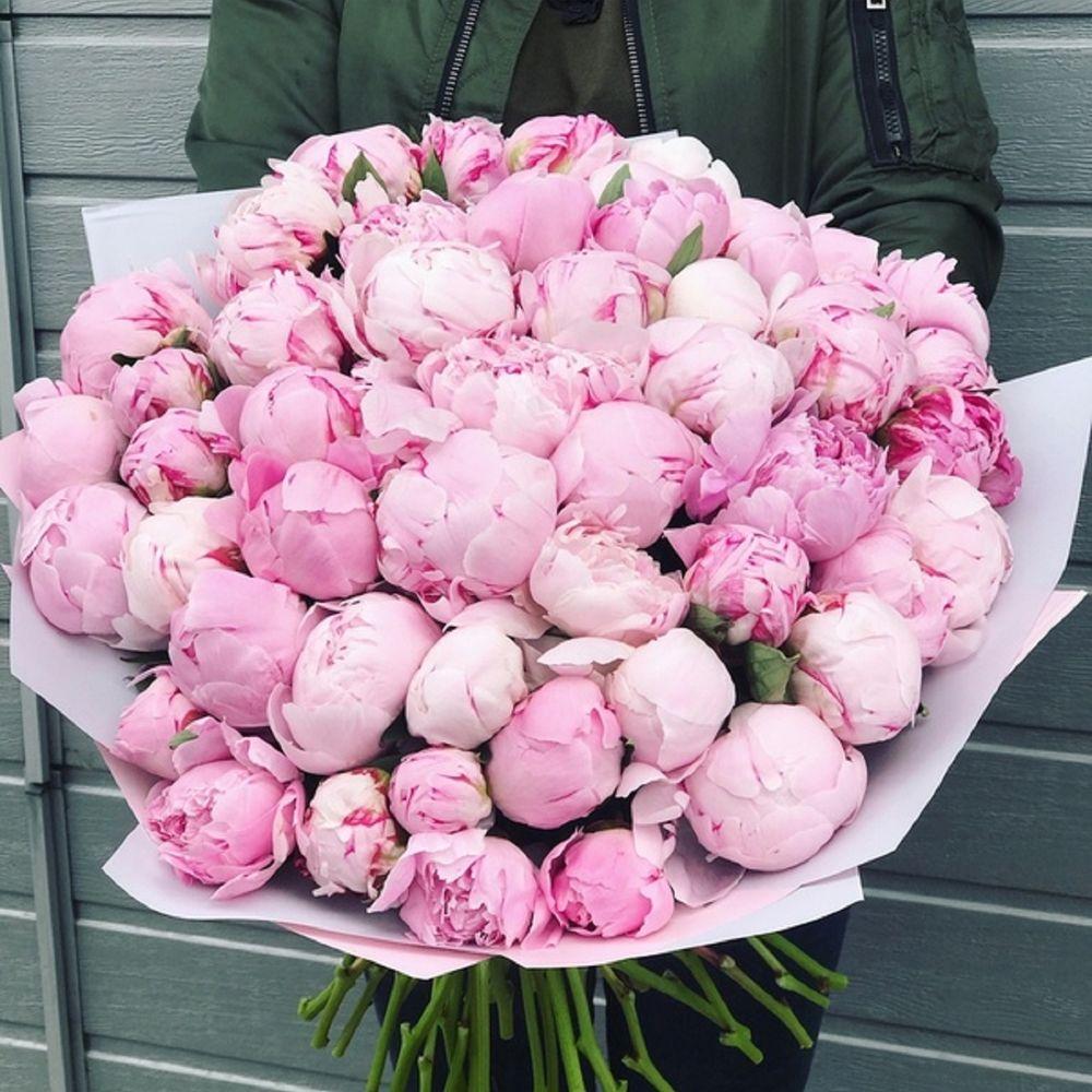 Букет цветов из пионы цена уфа, роз спирали мастер